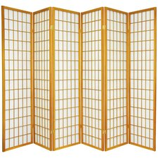 "70"" x 84"" Window Pane Shoji 6 Panel Room Divider"