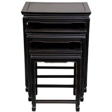 <strong>Oriental Furniture</strong> 3 Piece Nesting Tables