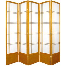 "78"" x 72"" Double Cross 5 Panel Room Divider"