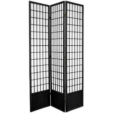 "<strong>Oriental Furniture</strong> 78"" x 43"" Window Pane Shoji 3 Panel Room Divider"