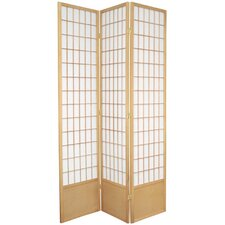 "78"" x 43"" Window Pane Shoji 3 Panel Room Divider"