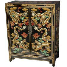<strong>Oriental Furniture</strong> Dragons Shoe Cabinet
