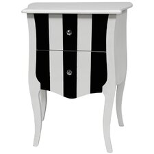 2 Drawer Striped Cabinet