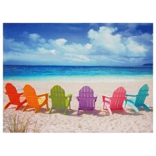 Beach Chairs Photographic Print on Canvas