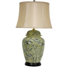 """Birds and Flowers 25"""" H Table Lamp"""