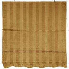 <strong>Oriental Furniture</strong> Striped Retractable Cotton Roman Shade
