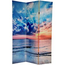"<strong>Oriental Furniture</strong> 70.88"" x 47.25"" Sunrise 3 Panel Room Divider"
