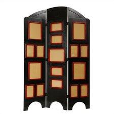 "67.5"" x 45"" Arc Top Photo Display 3 Panel Room Divider"