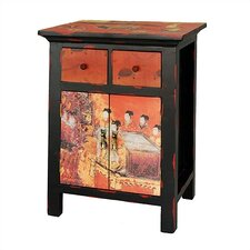 <strong>Oriental Furniture</strong> Flying Emperor End Table