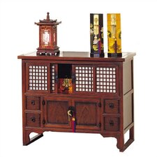 Shoji 2 Door 4 Drawer Lattice Chest