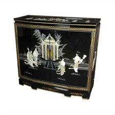 Chinese Ladies Design Slant Front Cabinet