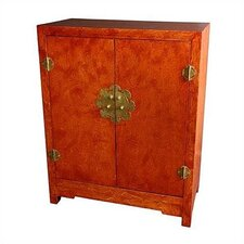 <strong>Oriental Furniture</strong> Chinese Burl Wood Cabinet