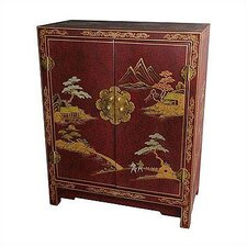 <strong>Oriental Furniture</strong> Japanese Crackle Lacquer Cabinet