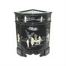 Chinese 8 Ladies Corner Cabinet