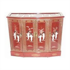 Asian Eight Ladies Sideboard