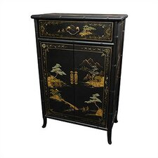 <strong>Oriental Furniture</strong> Japanese Crackle Shoe Cabinet