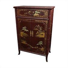 Japanese Crackle Shoe Cabinet