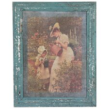 <strong>Oriental Furniture</strong> Rustic Mother and Child Garden Framed Picture