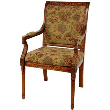<strong>Oriental Furniture</strong> Queen Victoria Fabric Arm Chair