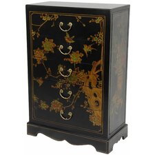 <strong>Oriental Furniture</strong> 5 Drawer Chest