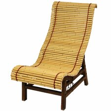 Curved Japanese Bamboo Lounge Chair