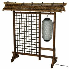 "<strong>Oriental Furniture</strong> 48"" x 51"" Bamboo Tree Tall Lantern Room Divider"