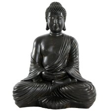 Large Japanese Sitting Buddha Figurine