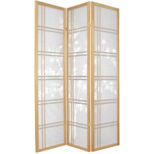 "72"" Double Crossed Bamboo Tree Room Divider in Natural"