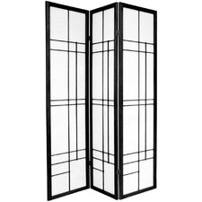 "72"" Eudes Decorative Paned Room Divider"