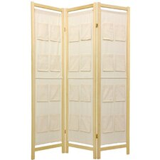 Pockets on Decorative Room Divider