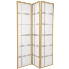 Double Sided Double Cross Room Divider in Natural