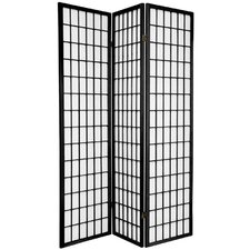 Double Sided Window Pane Room Divider in Black