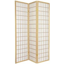 "72"" Double Sided Window Pane Room Divider"