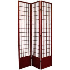 "78"" Window Pane Decorative Room Divider in Rosewood"
