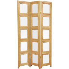 Double Sided Photo Display Room Divider in Natural