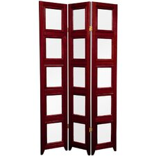 "63"" Rosewood Double Sided Photo Display Room Divider"