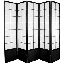 "70.25"" x 70"" Asian Zen 5 Panel Room Divider"