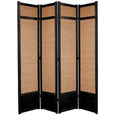 "83.5"" x 57"" Jute Shoji 4 Panel Room Divider"