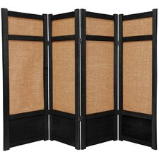 "48"" x 57"" Jute Shoji 4 Panel Room Divider"