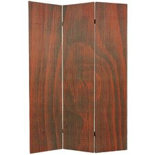 Tall Frameless Bamboo Room Divider in Walnut