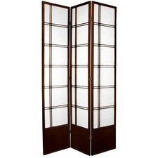 "83.5"" x 42"" Double Cross Shoji 3 Panel Room Divider"