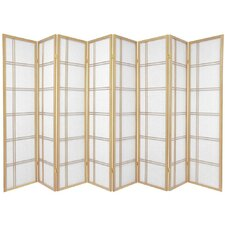 Double Cross Shoji Screen with Eight Panel in Natural