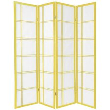 "70"" Double Cross Shoji 4 Panel Room Divider"