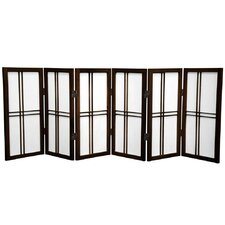 "26"" x 59"" Double Cross Shoji 6 Panel Room Divider"