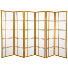 "60"" x 84"" Double Cross Shoji 6 Panel Room Divider"