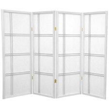 "48"" x 57"" Double Cross Shoji 4 Panel Room Divider"