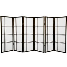"48"" x 85"" Double Cross Shoji 6 Panel Room Divider"
