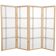 "48"" x 57"" Double Cross Shoji 4 Panel Room Divider"