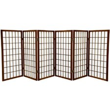 "35.75"" x 86"" Window Pane Shoji 6 Panel Room Divider"