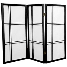 "35.75"" x 43"" Double Cross Shoji 3 Panel Room Divider"